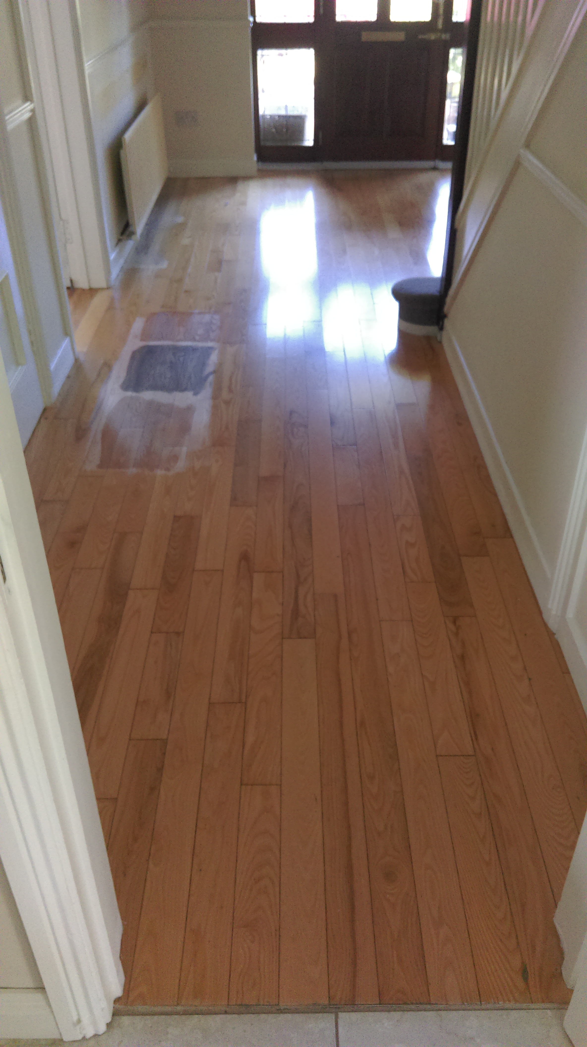 Solid French oak prior to restoration