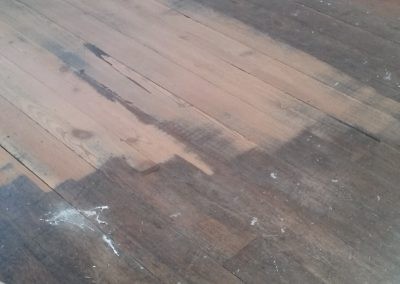 Prior to Restoration 200 year old pitch pine floor