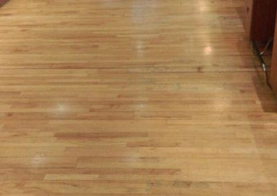hairdressers wooden floor before