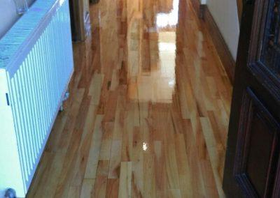 hallway freshly varnished
