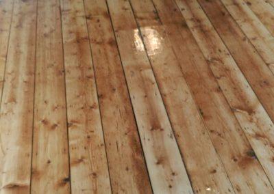varnished wooden floor