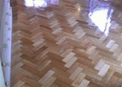 wood floor freshly varnished