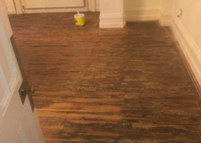 wood floor varnishing preparation