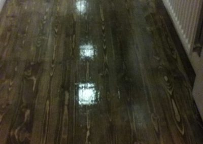 Freshly Stained Wooden Floor