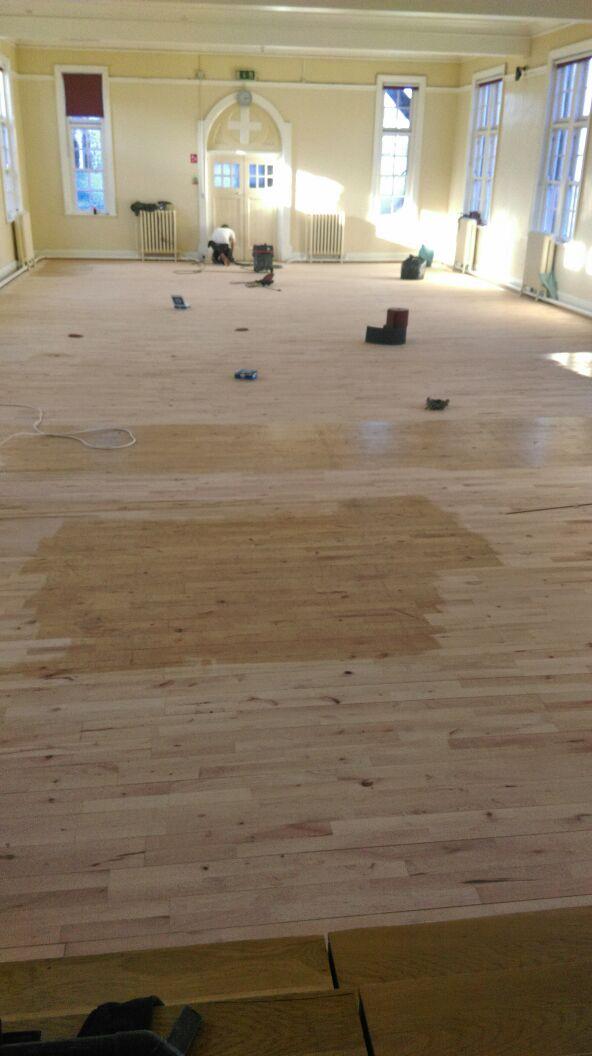 Church Wooden Floor Restoration Sanded Wooden Floor Sanding